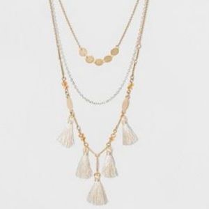 New tassel multistrand necklace